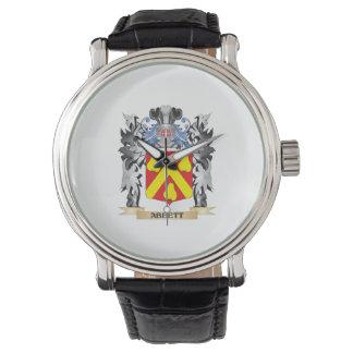 Abbett Coat of Arms - Family Crest Wrist Watch