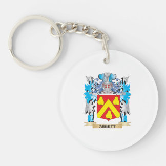 Abbett Coat Of Arms Double-Sided Round Acrylic Keychain