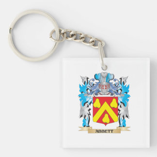 Abbett Coat Of Arms Double-Sided Square Acrylic Keychain