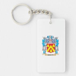 Abbett Coat Of Arms Double-Sided Rectangular Acrylic Keychain