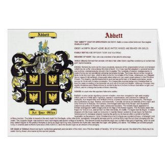 Abbett (meaning) card