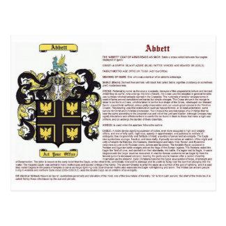 Abbett (meaning) postcard