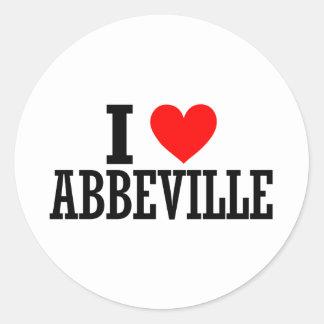 Abbeville, Alabama Design Round Stickers