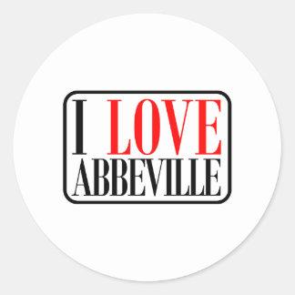 Abbeville, Alabama Design Round Sticker