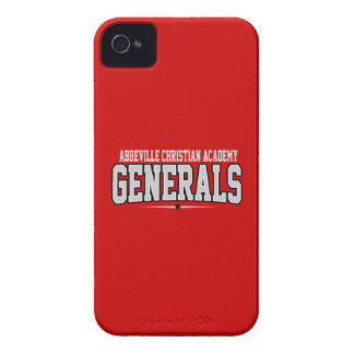 Abbeville Christian Academy High School; Generals iPhone 4 Case