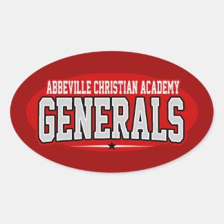 Abbeville Christian Academy High School; Generals Stickers