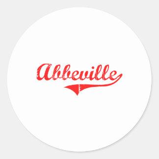 Abbeville Georgia Classic Design Round Stickers