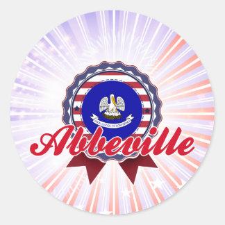 Abbeville, LA Round Stickers
