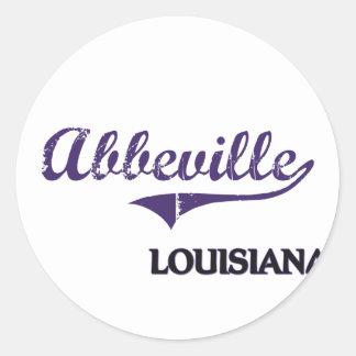 Abbeville Louisiana City Classic Round Stickers