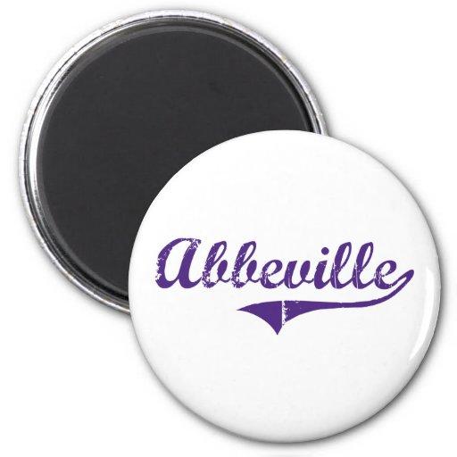 Abbeville Louisiana Classic Design Fridge Magnet