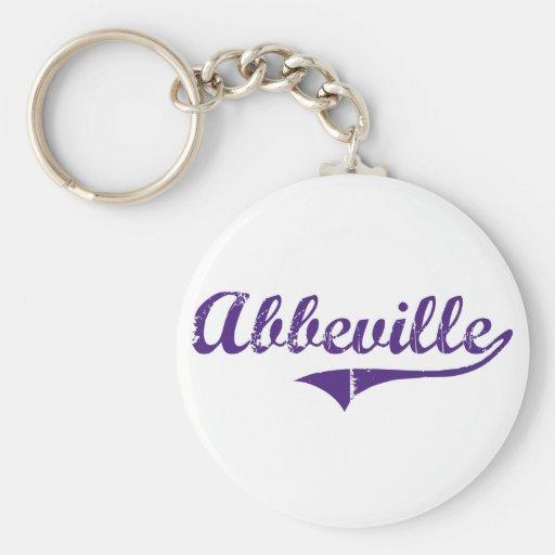 Abbeville Louisiana Classic Design Basic Round Button Keychain