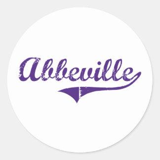 Abbeville Louisiana Classic Design Round Stickers