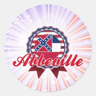 Abbeville, MS Round Sticker
