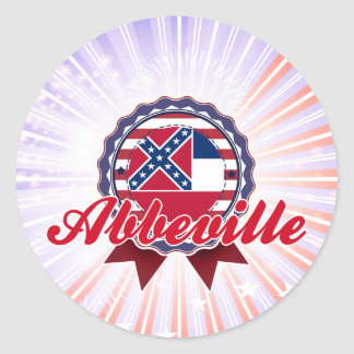 Abbeville, MS Round Stickers