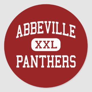 Abbeville - Panthers - High - Abbeville Round Sticker
