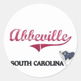 Abbeville South Carolina City Classic Sticker