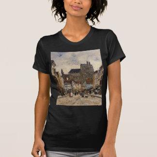 Abbeville, Street and the Church of Saint-Vulfran T-shirt