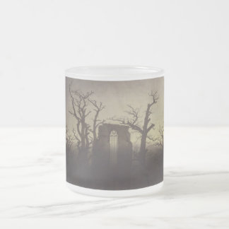 Abbey among Oak Trees by Caspar David Friedrich 10 Oz Frosted Glass Coffee Mug