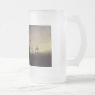 Abbey among Oak Trees by Caspar David Friedrich Frosted Glass Beer Mug