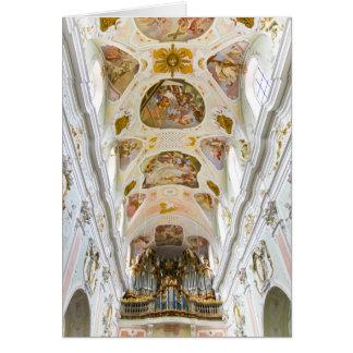 Abbey church of  St Georg, Ochsenhausen, Germany Card