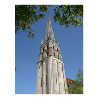 Abbey church spire postcard