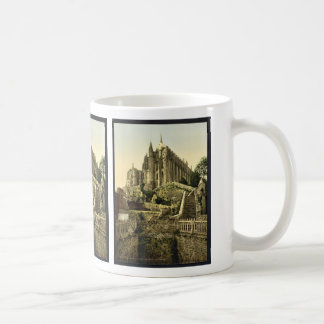 Abbey from the ramparts, Mont St. Michel, France v Coffee Mug
