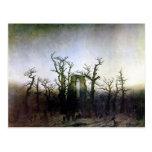 Abbey in an Oak Forest by Caspar David Friedrich Postcard