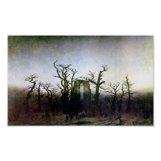 Abbey in an Oak Forest by Caspar David Friedrich Posters