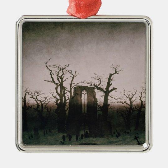 Abbey in the Oakwood, 1810 Metal Ornament