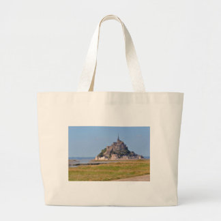 Abbey Mont-Saint-Michel in France Large Tote Bag