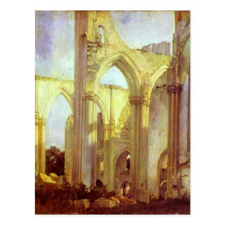 Abbey of St. Berlin, near St. Omer by Richard Postcard