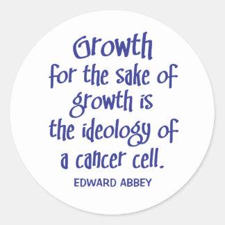 Abbey on Growth Round Sticker