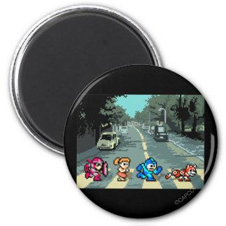 Abbey Road 8-Bit 2 Inch Round Magnet