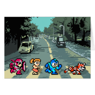 Abbey Road 8-Bit Card
