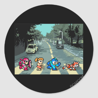 Abbey Road 8-Bit Classic Round Sticker