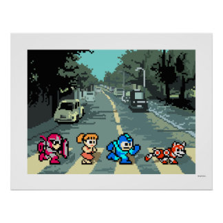 Abbey Road 8-Bit Poster