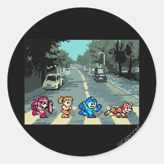Abbey Road 8-Bit Round Sticker