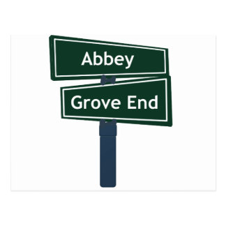 Abbey Road and Grove End Road Street Sign Post Card