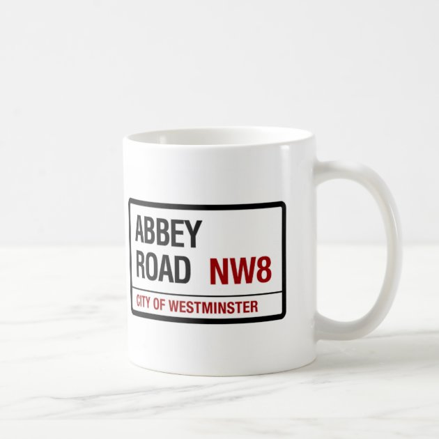 Beatles Inspired Abbey Road White Ceramic Coffee Mug