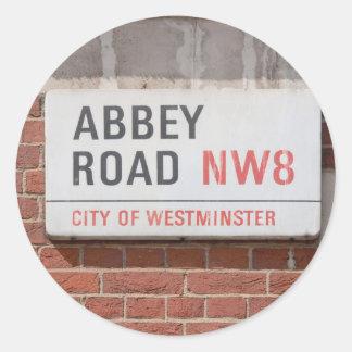 Abbey Road London Classic Round Sticker
