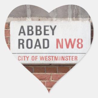 Abbey Road London Heart Sticker