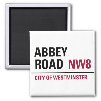 Abbey Road Sign 2 Inch Square Magnet