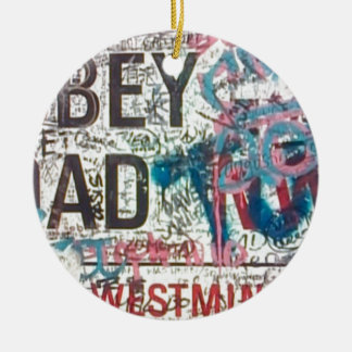 Abbey Road Sign Double-Sided Ceramic Round Christmas Ornament