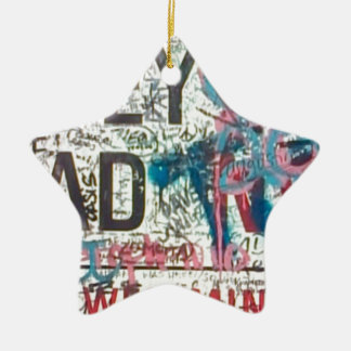 Abbey Road Sign Double-Sided Star Ceramic Christmas Ornament