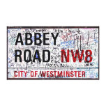 Abbey Road Sign London Covered in Graffiti Canvas Print