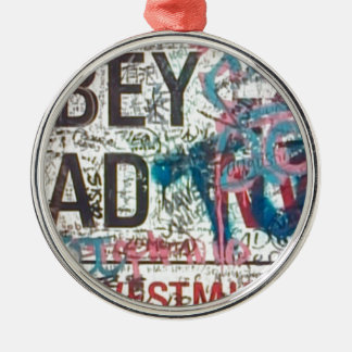 Abbey Road Sign Round Metal Christmas Ornament
