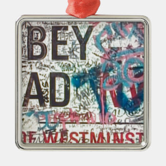 Abbey Road Sign Square Metal Christmas Ornament