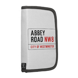 Abbey Road Street Sign Folio Planners