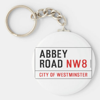 Abbey Road Street Sign Keychain