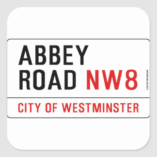 Abbey Road Street Sign Square Sticker